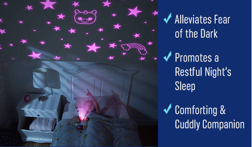 Alleviates fear of dark and promotes a restful night's sleep